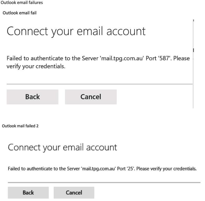 Solved: TPG does NOT work with Outlook. - Page 2 - TPG Community