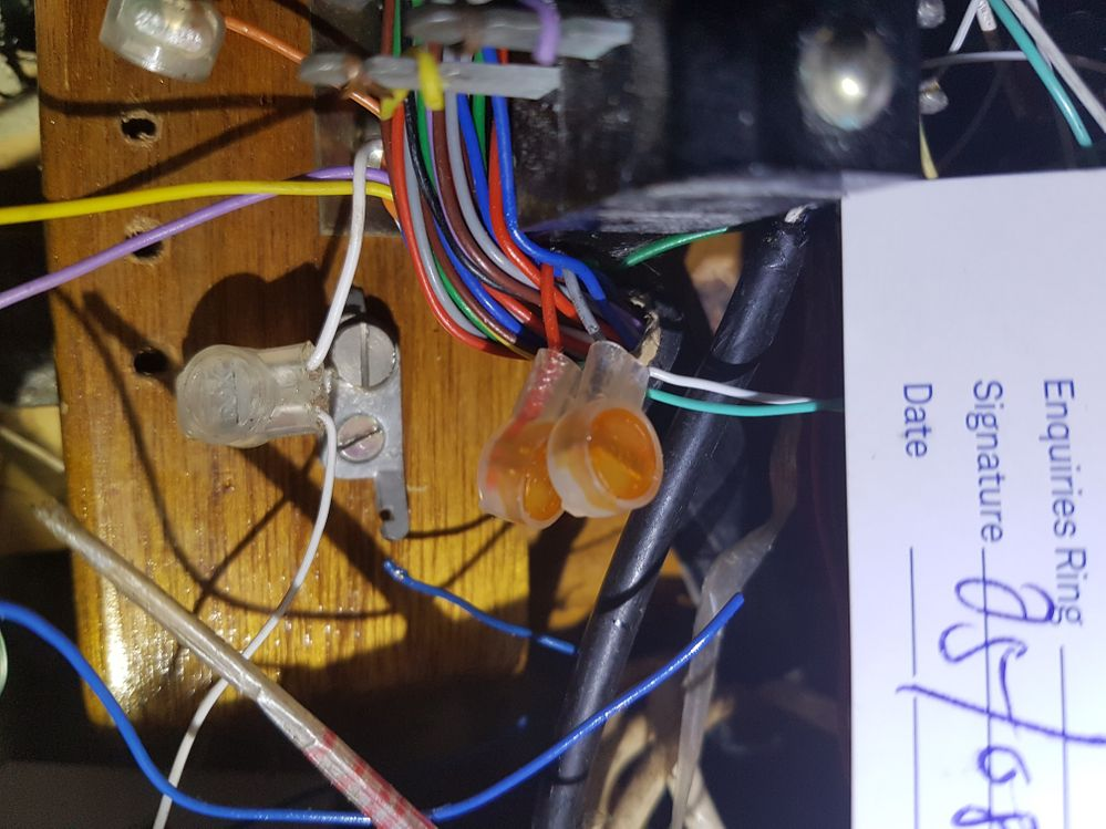 Hope you can see the photo, in the middle there's a large black cable contains many pairs of wires, which will be connected to the unit through the jumper. I believe this one is the lead cable you are talking about.