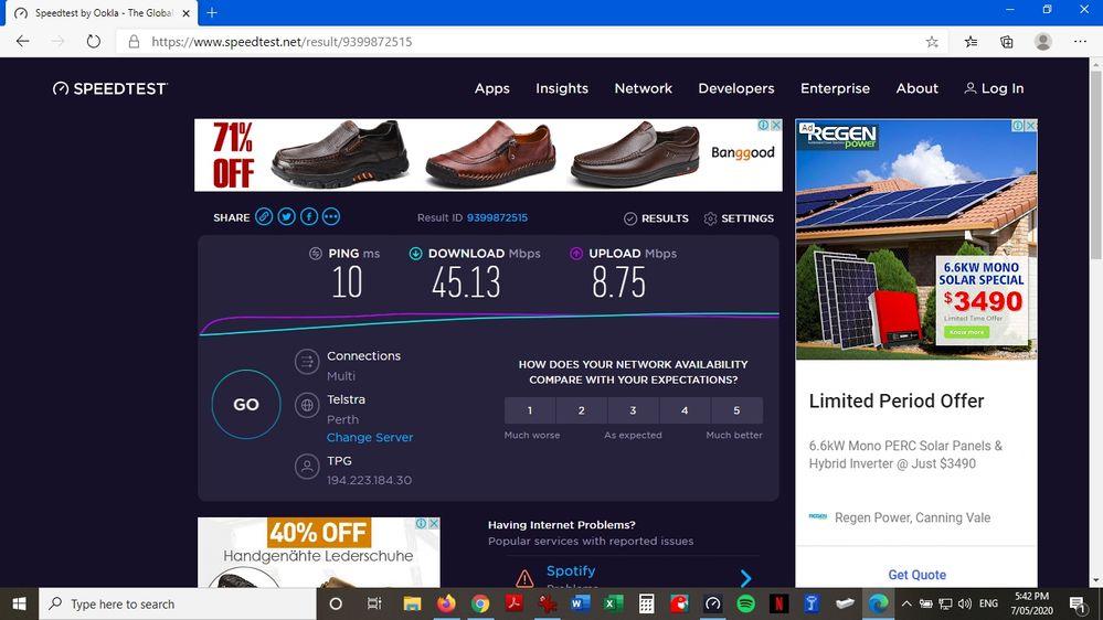 On MS Edge Ethernet