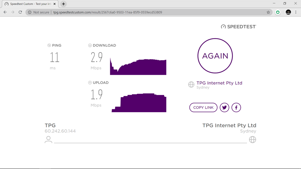 TPG internet test