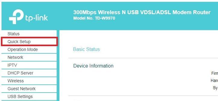 How to set up your TP-Link TD-W9970 modem for ADSL2+ - TPG Community