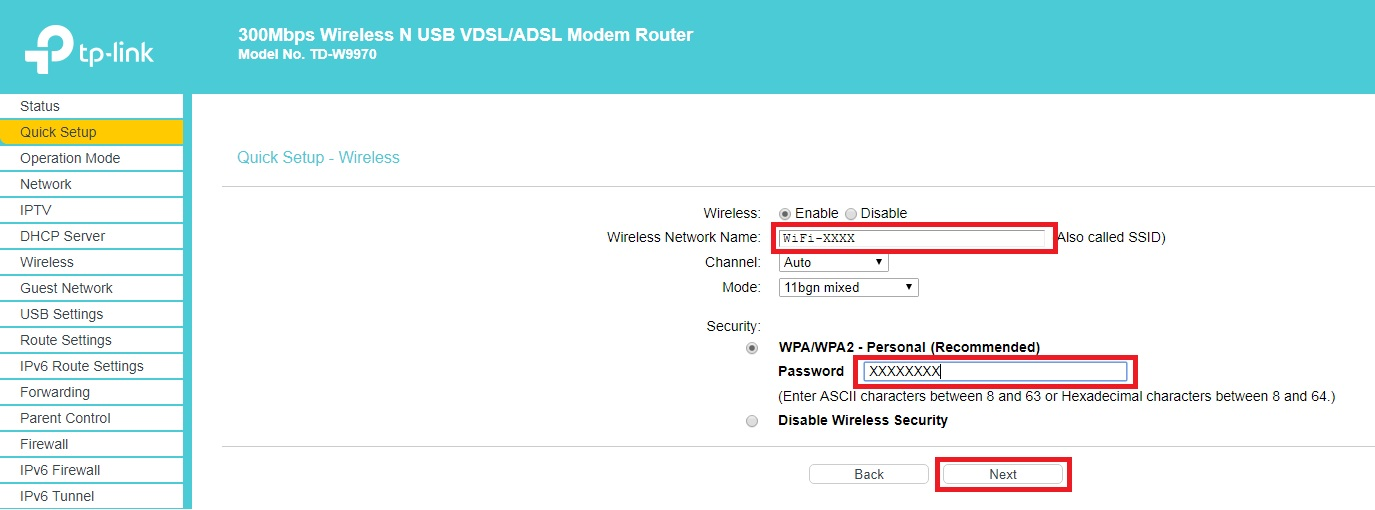 How to set up your TP-Link TD-W9970 modem for ADSL2+ - TPG Community